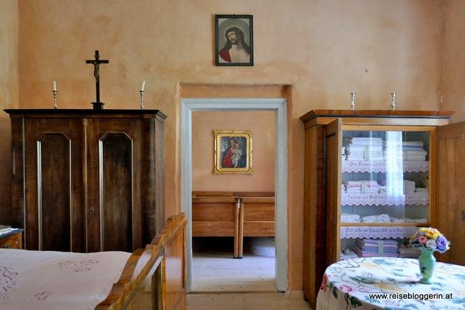 Schlafzimmer im Museumsdorf Niedersulz