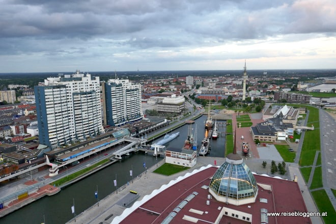 Bremerhaven von der Aussichtsplattform aus gesehen