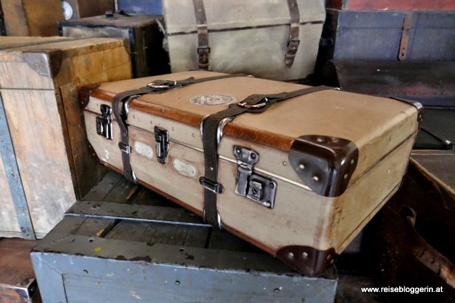 Gepäckraum auf einem Dampfschiff