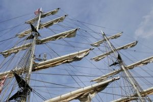 Takelage beim Segelschiff