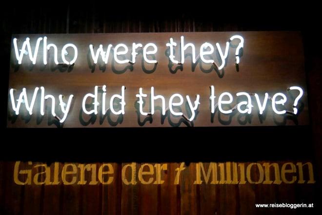 Who were they? Spruch im Auswandererhaus
