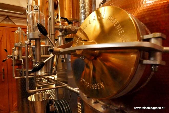 Brennofen in der Whiskybrennerei Haider im Waldviertel