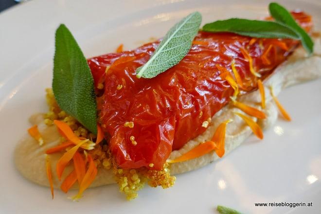 Roter Paprika im Bio-Gasthaus Leibspeis'