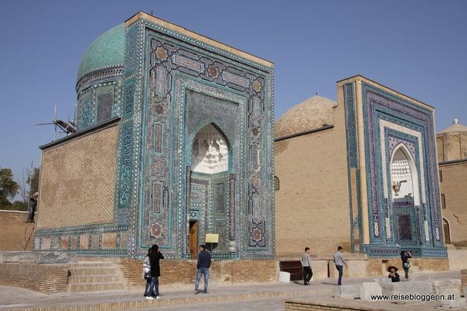 Nekropole in Samarkand in Usbekistan