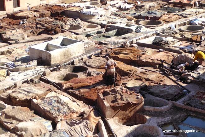 Das Gerberviertel in Marrakesch