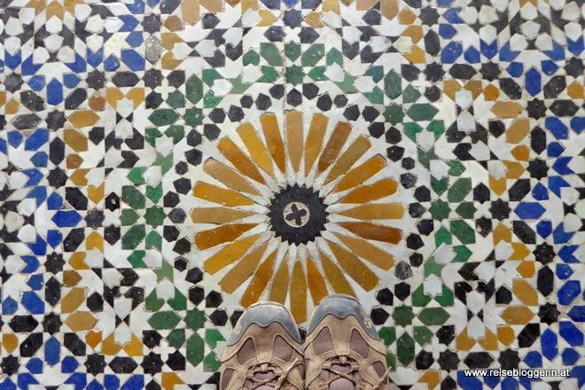 Der Mosaikboden im Bahia Palast