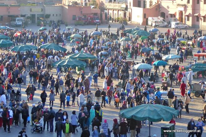 Der Platz der Gaukler in Marrakesch