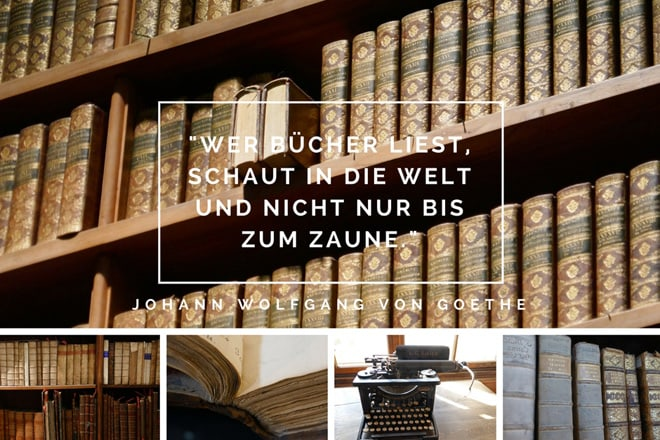Johann Wolfgang von Goethe: Wer Bücher liest, schaut in die Welt und nicht nur bis zum Zaune.