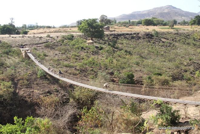 Hängebrücke in Äthiopien - Wanderung zu den Wasserfällen des Blauen Nil