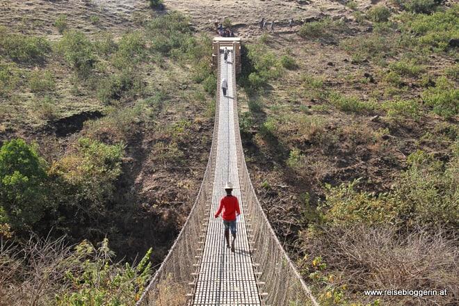 Hängebrücke - Wanderung zu den Wasserfällen des Blauen Nil