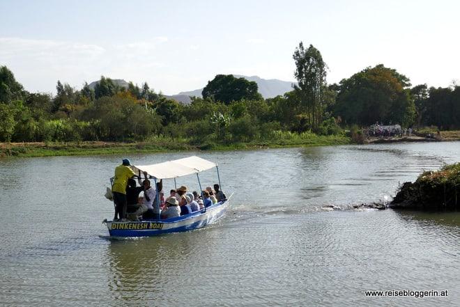 Mit dem Boot über den Blauen Nil in Äthiopien