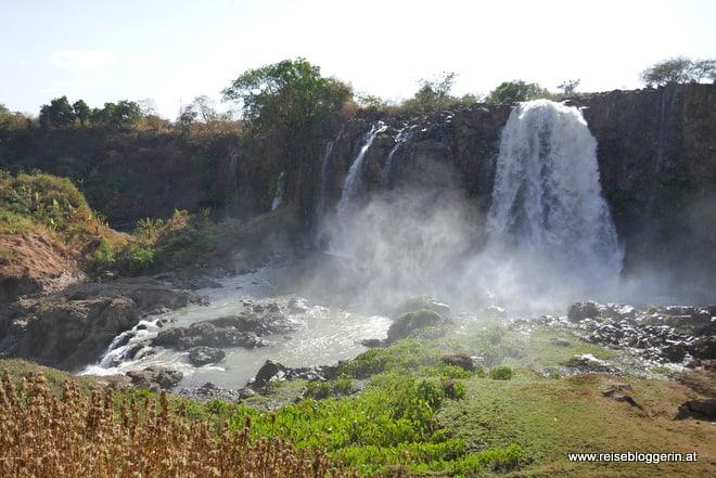 Die Wasserfälle des Blauen Nil in Äthiopien