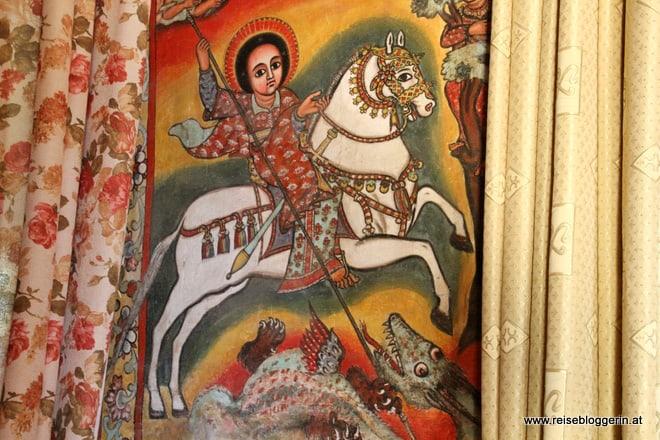 Der Heilige Georg in der Klosterkirche am Tana-See