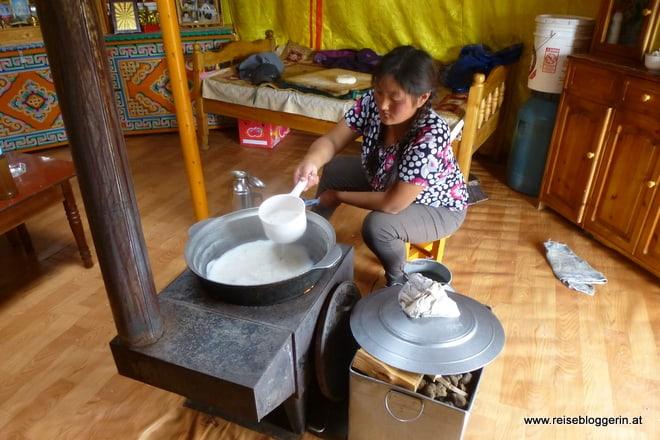 Familienjurte in der Mongolei