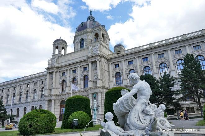 Das Gebäude des Kunsthistorischen Museums von außen