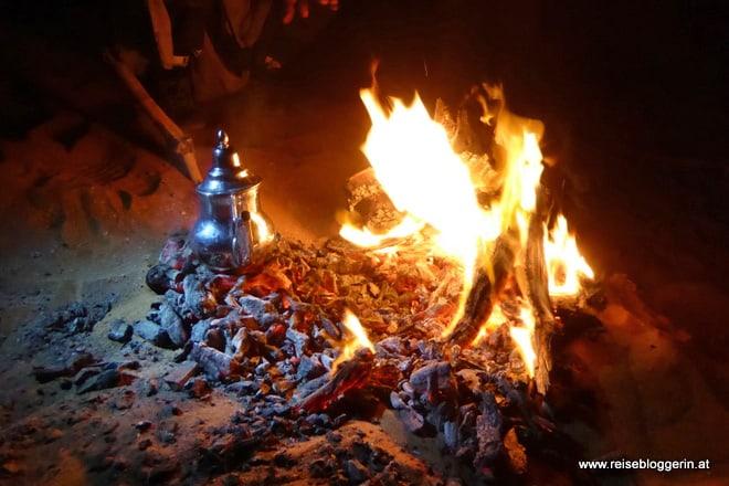 Unser Lagerfeuer in der Wüste