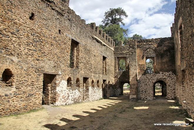 Ein Gebäude im Palastbezirk in Gondar