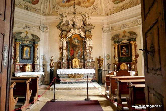 Die Schlosskapelle in der Bibersburg