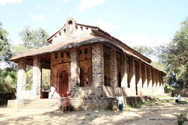 Die Kirche des Klosters Debre Berhan Selassie
