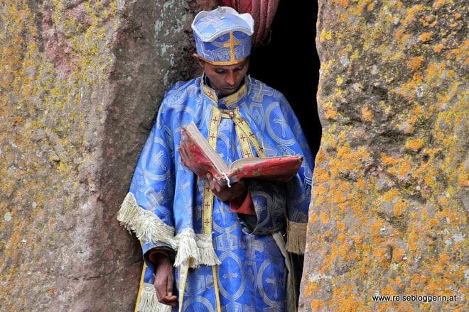 Mönch in Lalibela