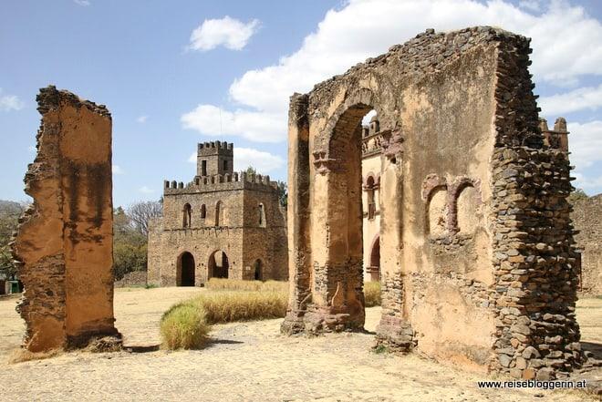 Der Palastbezirk in Gondar