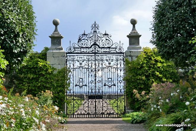 Ein Gartentor im Castle Dunrobin