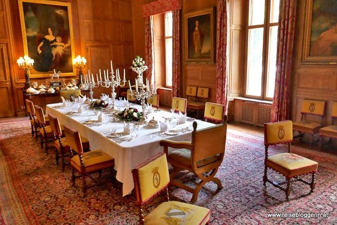 Das Speisezimmer im Dunrobin Castle