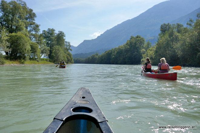 Paddeln auf der Drau mit dem Kanu