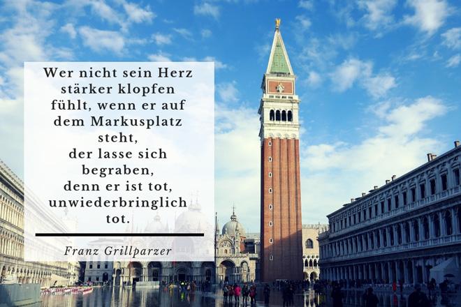 Zitat von Franz Grillparzer über Venedig