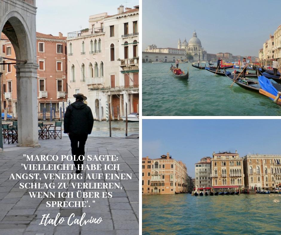 """""""Marco Polo sagte: 'Vielleicht habe ich Angst, Venedig auf einen Schlag zu verlieren, wenn ich über es spreche. Italo Calvino"""