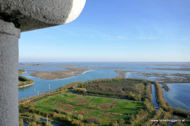 Ausblick auf die Lagune von Venedig
