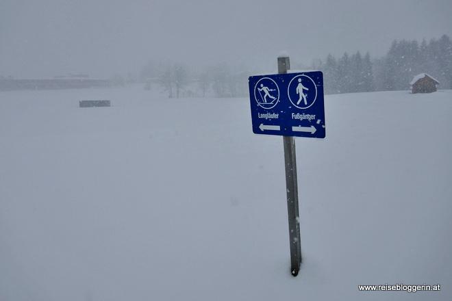 Schnee in Bad Aussee