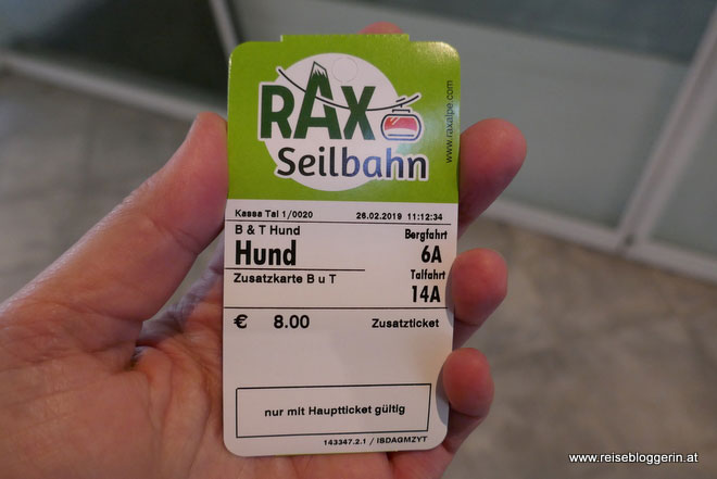 Seilbahn Ticket Rax