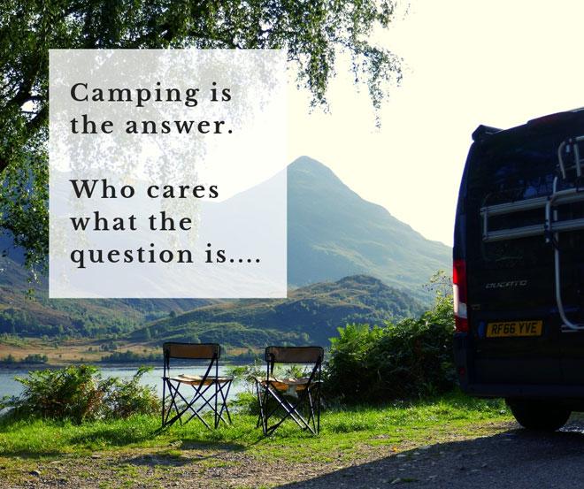 Camping Zitat