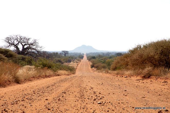 Die Landschaft in Südafrika
