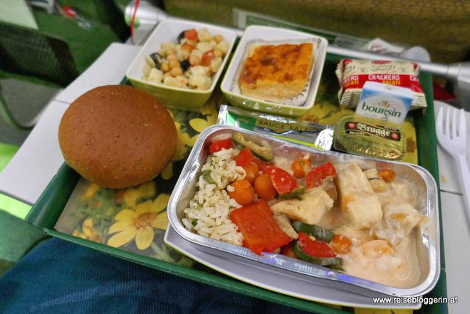 Das Bordmenü der Ethiopian Airlines