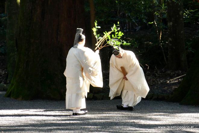 Shintoismus im Ise Schrein in Japan