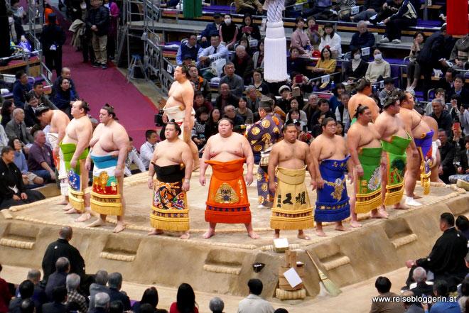 Sumo Turnier in Japan
