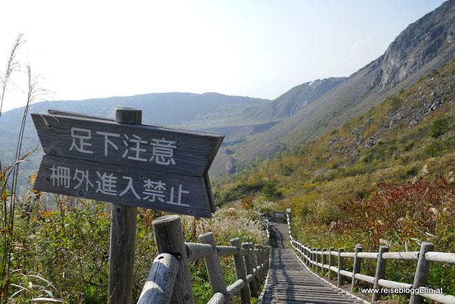 Wanderung am Mount Usu