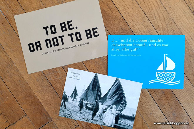 Postkarten Weltreise nach Linz, Kopenhagen und Cesenatico