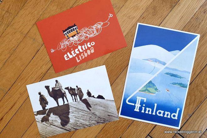 Weltreise mit Postkarten nach Lissabon, Florenz und Marokko