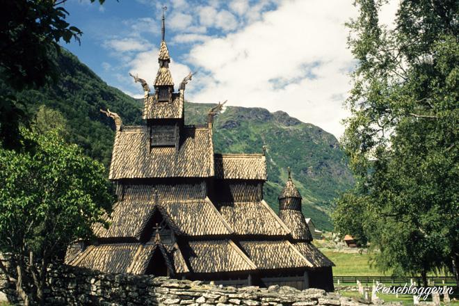 Eine Stabkirche in Norwegen