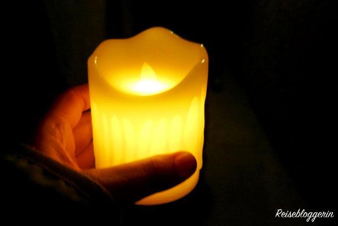 Kerze als Lichtquelle