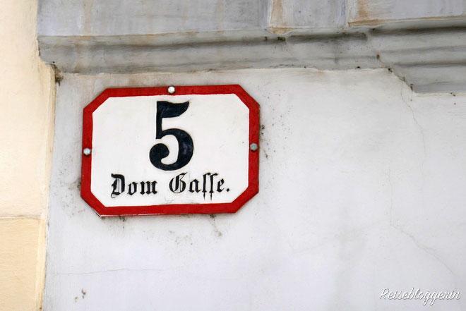 Hausnummer der Domgasse 5