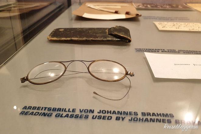 Die Arbeitsbrille von Johannes Brahms