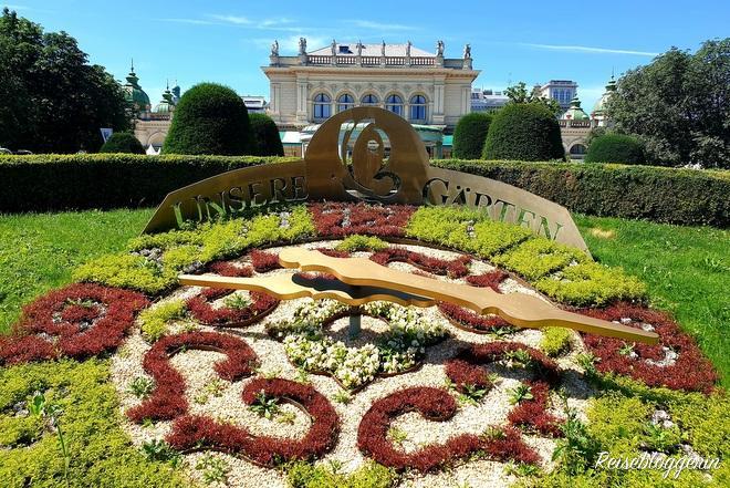 Die Blumenuhr im Stadtpark Wien