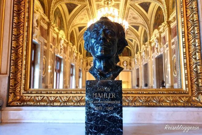 Gustav Mahler Büste in der Oper Wien