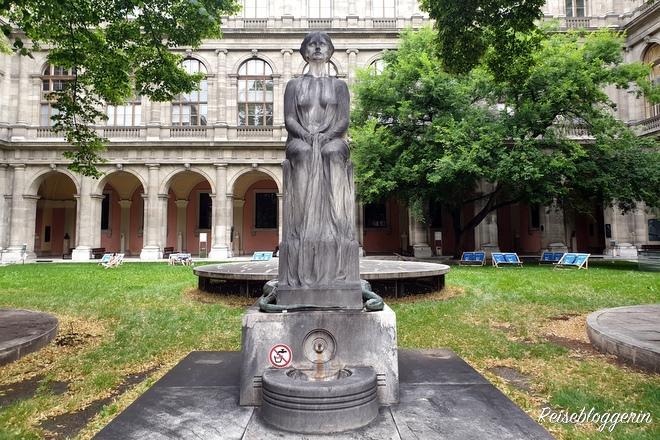 Der Innenhof der Universität in Wien