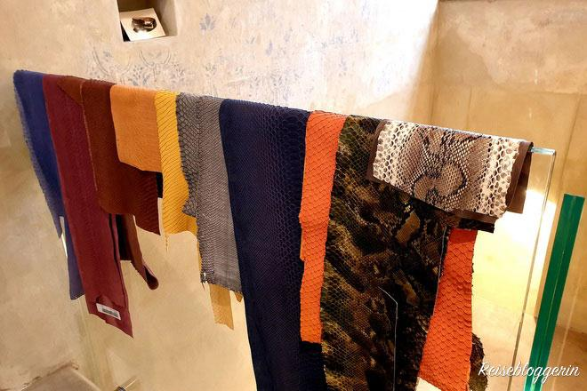 Leder in vielen verschiedenen Farben beim Schuhmacher Scheer