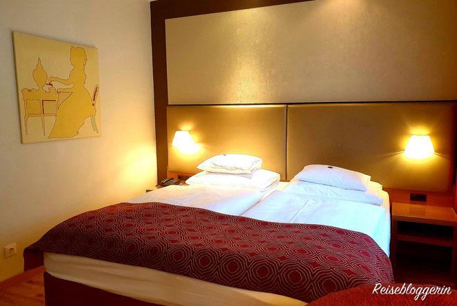 Bett im Hotel Das Tigra